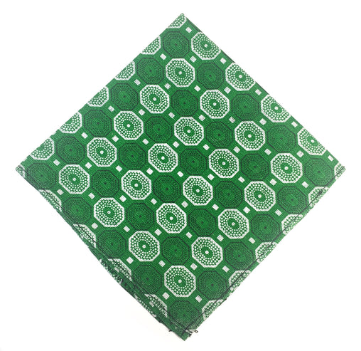 Shweshwe Pocket Square - Green