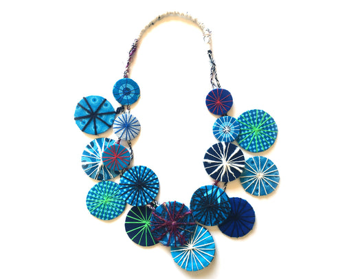 Circles Necklace - Blues
