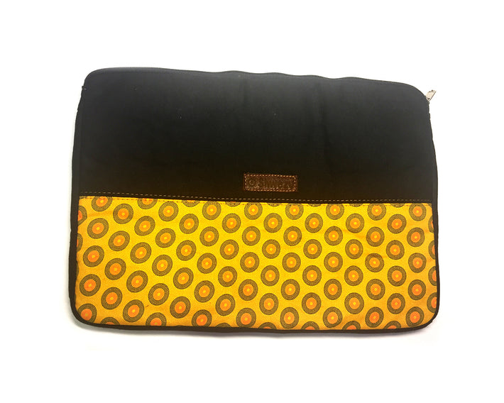Laptop Sleeve - Canvas Small - Black & Yellow