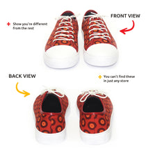 Shweshwe Sneakers - Chucks - Red & Orange