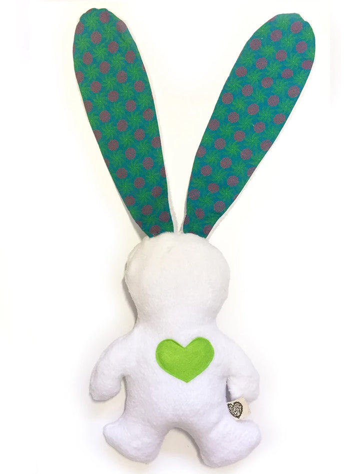 Shwezoo African Love Bunny - White & Turquoise