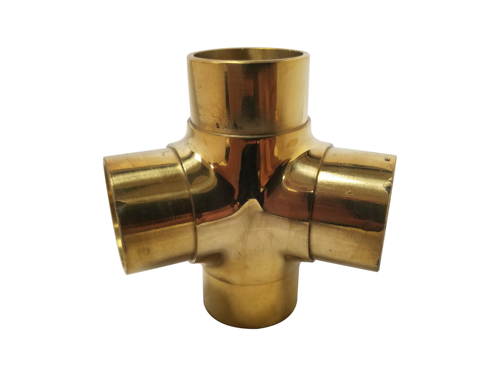 "Flush 135° Side Outlet Tee for 1-1/2"" Tubing - FF143A - FLUSH FITTING,COMPONENTS FOR 1-1/2"" OD TUBING - Trade Diversified"