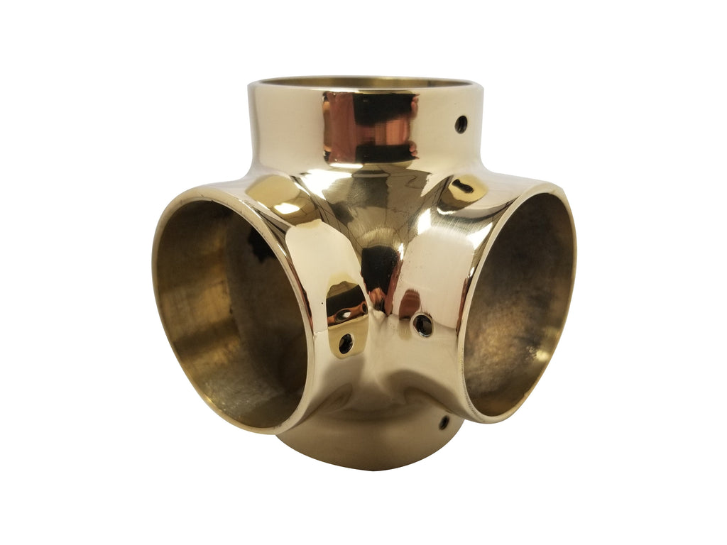 "Ball Side Outlet Tee for 1-1/2"" Tubing - BF741A - Ball Fittings, Components for 1-1/2"" Od Tubing - Trade Diversified"