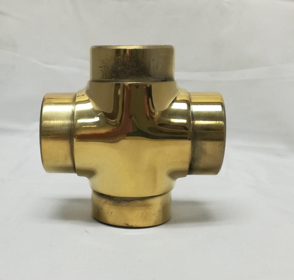 "Flush Cross for 1-1/2"" Tubing - FF142A - FLUSH FITTING,COMPONENTS FOR 1-1/2"" OD TUBING - Trade Diversified"