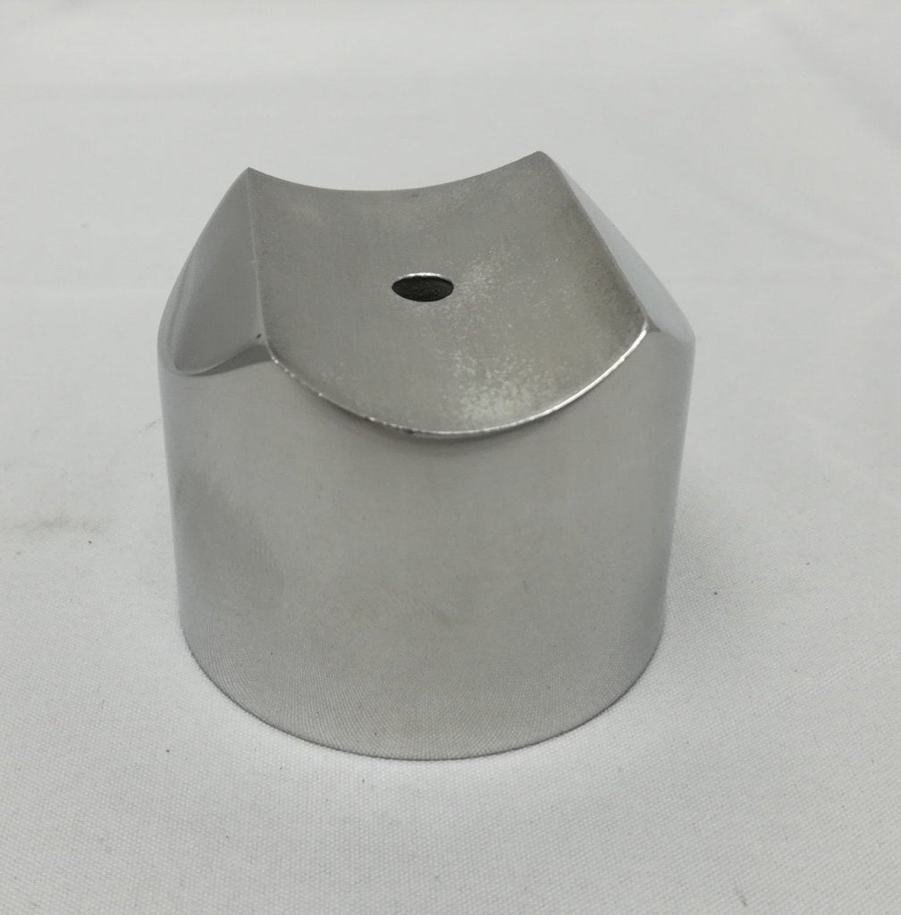 "2"" Stainless Steel External Perpendicular Collar - Components for 2"" Od Tubing, Collars, Adapters & Glass Clips - Trade Diversified"