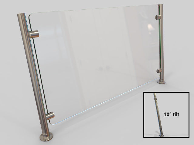 Partition with 10-degree Slant Posts - HOSPITALITY FIXTURES - Trade Diversified