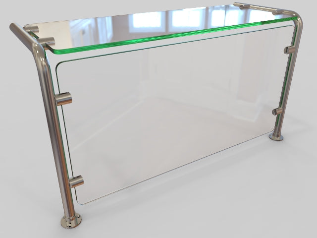 Pass-over Sneeze Guard with Shelf - HOSPITALITY FIXTURES - Trade Diversified