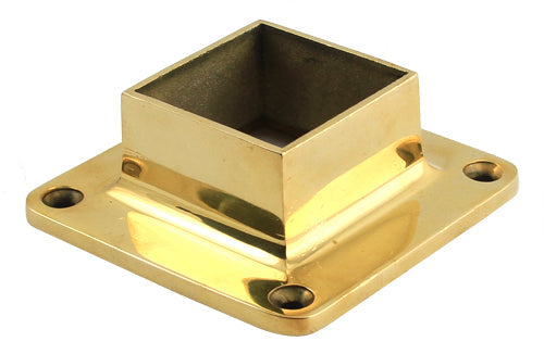 "Square flange For 1"" Square Tubing - SS326B - Flanges and Anchors, Square for Square Tubing - Trade Diversified"