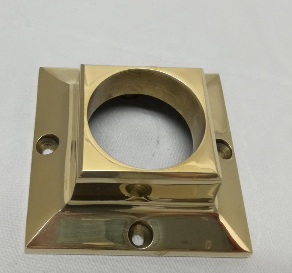 "SR281T Square Flange For 2"" DIA Round Tubing - Flanges and Anchors, Components for 2"" Od Tubing - Trade Diversified"