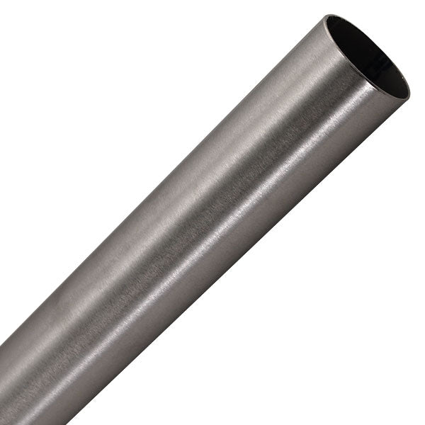 Brushed Stainless Tubing - Price Per 20-ft Length - Tubing & U-channels, Collars, Adapters & Glass Clips - Trade Diversified