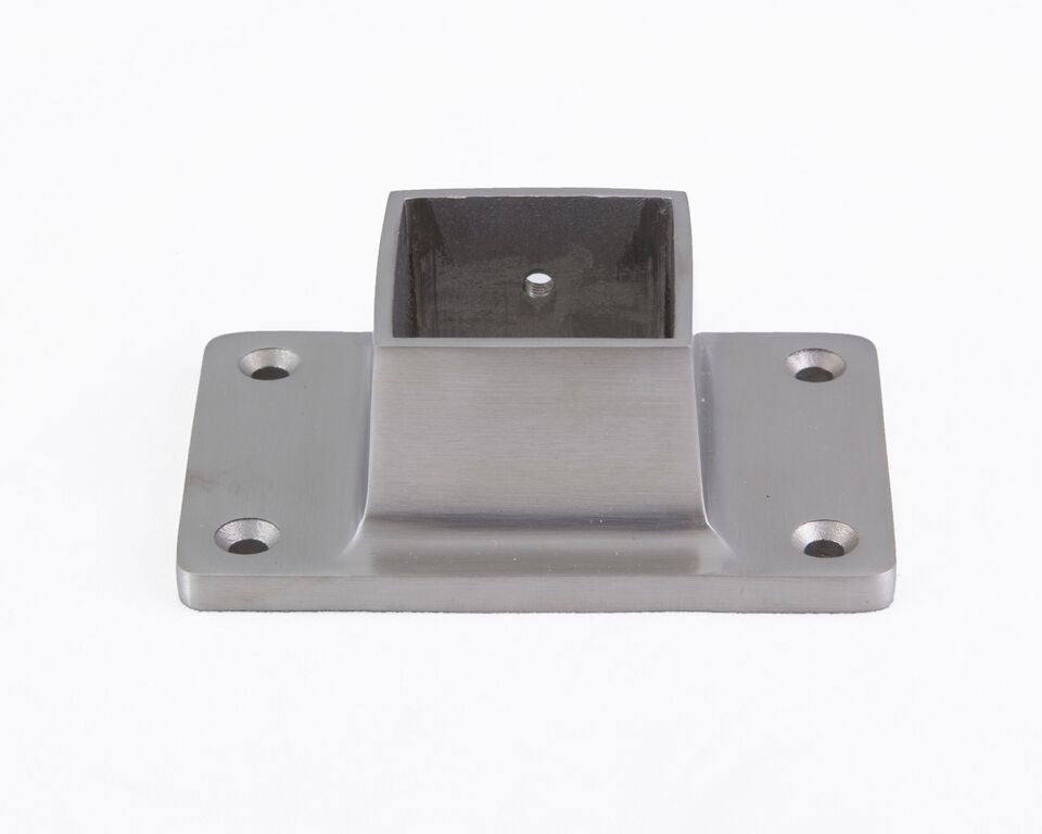 "SS325A Narrow Flange For 1-1/2"" Square Tubing - Flanges and Anchors, Square for Square Tubing - Trade Diversified"