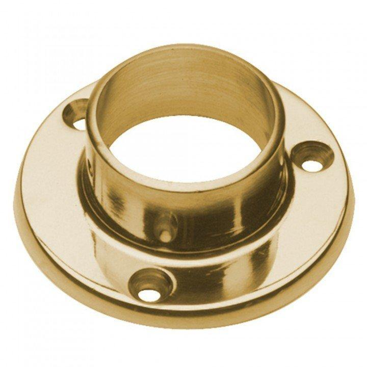 "Wall Flange for 1-1/2"" Tubing - FA422A - Flanges and Anchors, Components for 1-1/2"" Od Tubing, Drapery Hardware - Trade Diversified"