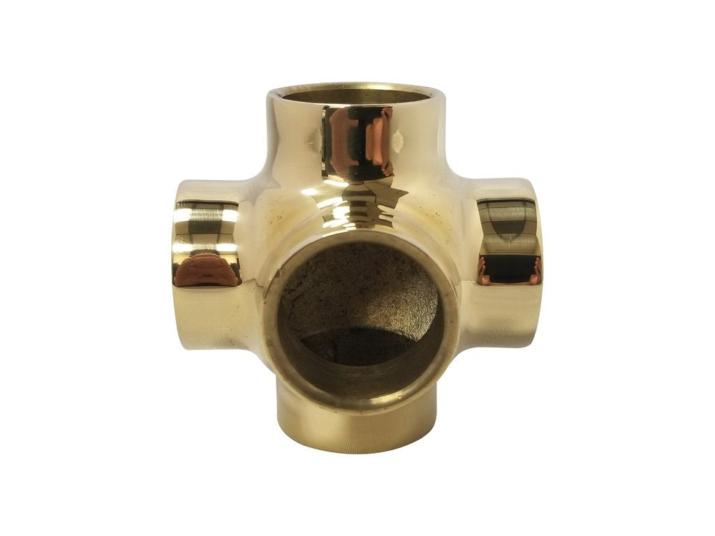 "Ball Side Outlet Cross for 1"" Tubing - BF751B - Ball Fittings, Components for 1"" Od Tubing - Trade Diversified"