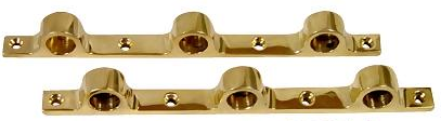 "Triple Push Bar Brackets (Pair, for 5/8"" Tubing) - AC973 - Components for 5/8"" Od Tubing, Hospitality Fixtures - Trade Diversified"