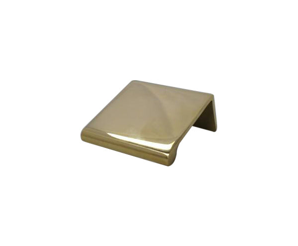 "Polished Brass Tap 1-1/2"" x 1-1/2"" Cabinet/Drawer Pull -  - Trade Diversified"