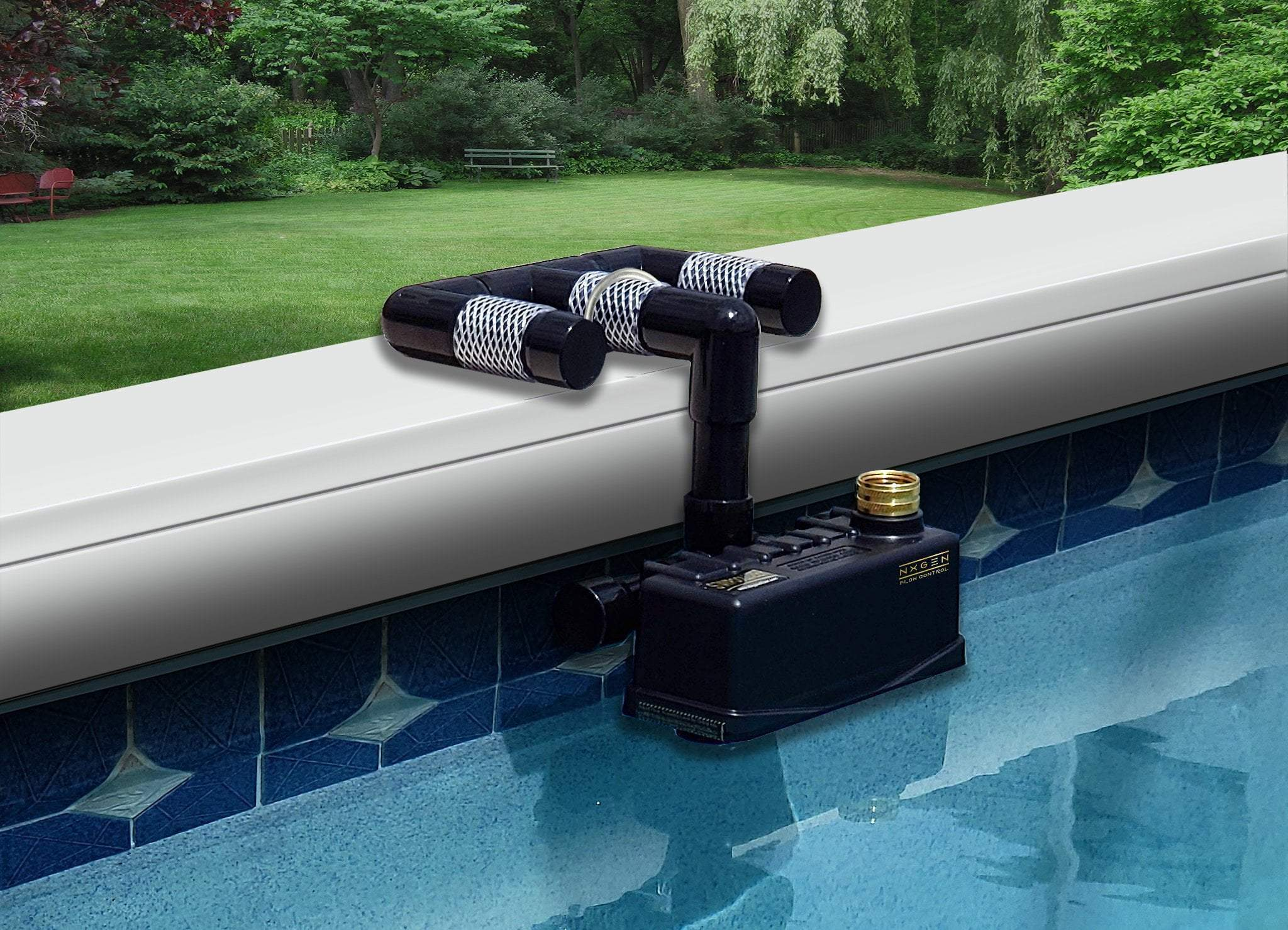 All Swimming Pools Universal Staypoollizer Universal Staypoollizer Premium with Nxgen Flow Control (Black)