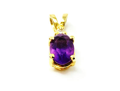 Amethyst Crystal Specimen in a Pendant