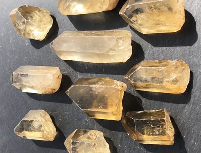 Group of Citrine Rough