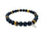 Earth Warrior Bracelet (Onyx and tiger's eye crystals combination)