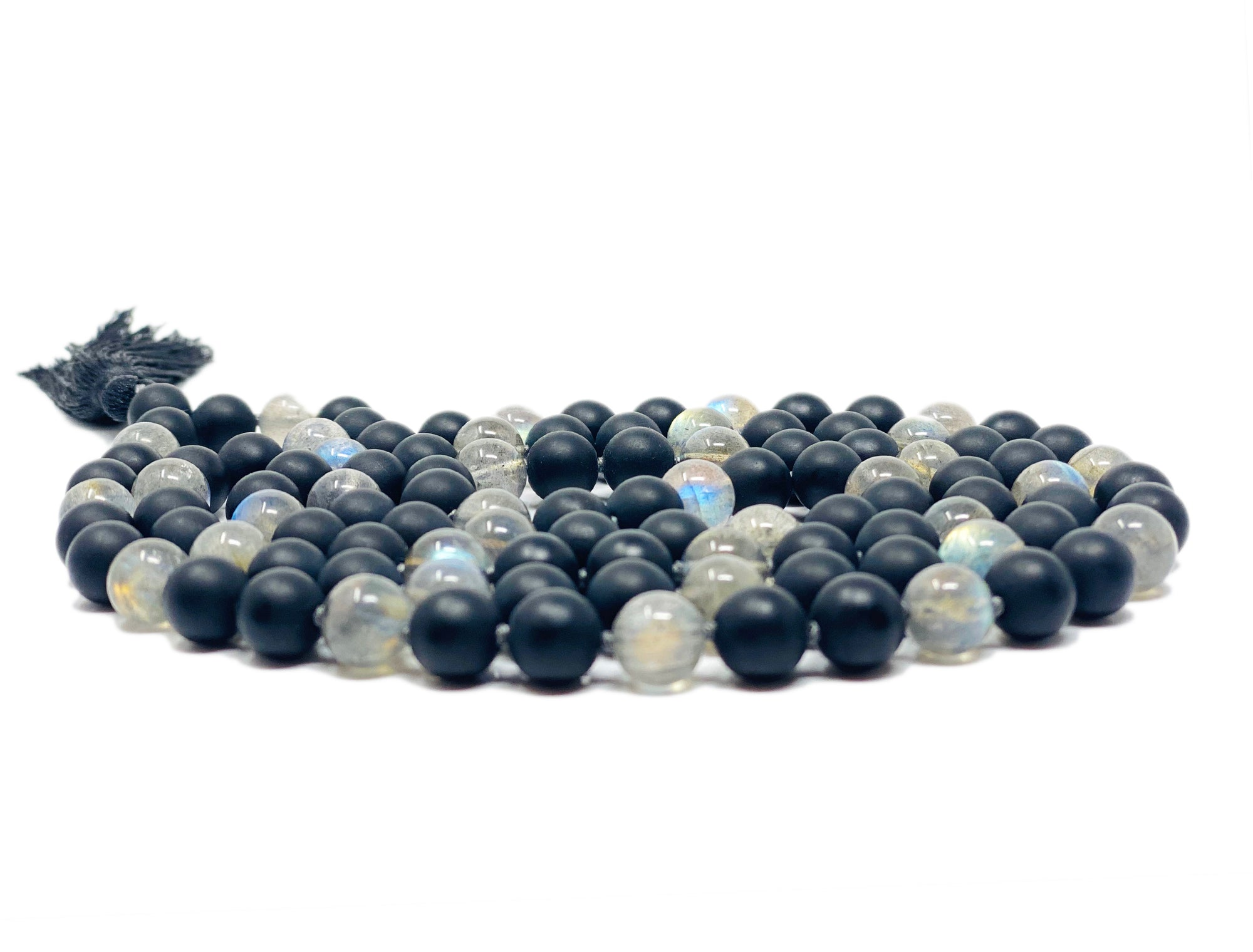 Aura Protection Mala (Onyx and Labradorite Combination)