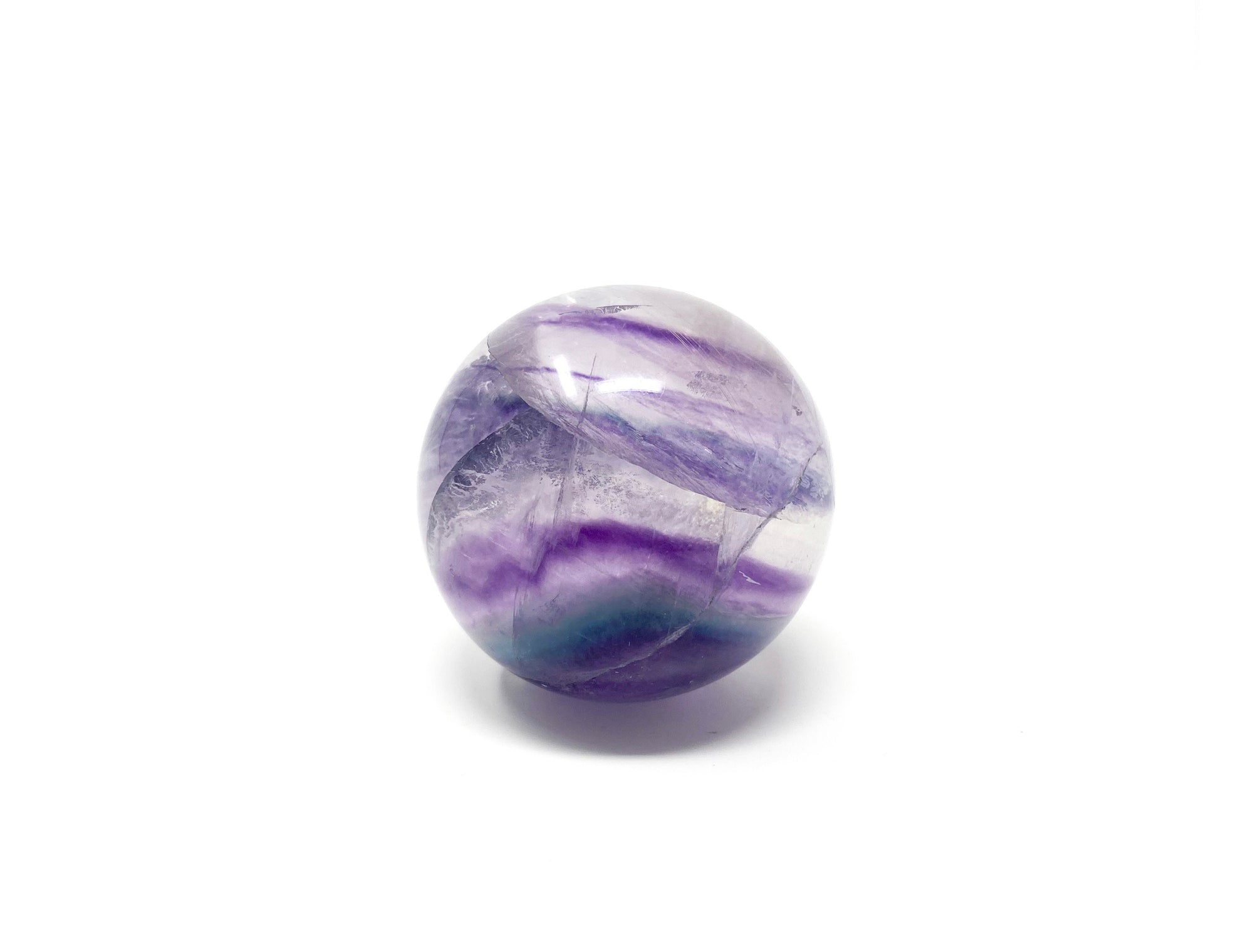 Purple Rainbow Fluorite Sphere