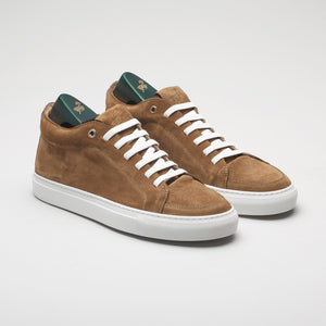 men's italian shoes, men's suede sneaker brown