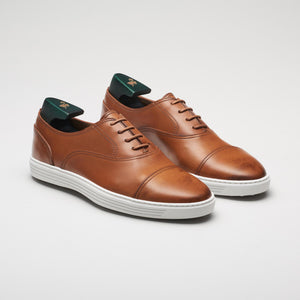 men's laceup brown leather