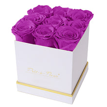 (D) Luxury Long Lasting Roses in a White Box, Preserved Flowers 5.5'' (Orchid)