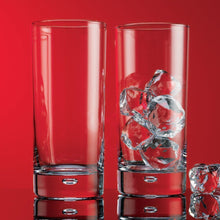 Home Essentials, Red Series 17oz Round Highball Glasses with bubble (Set of 8)