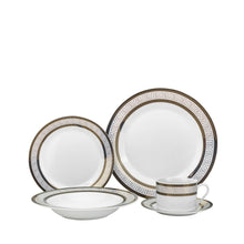 Royalty Porcelain 20-pc Dinner Set for 4, Gold, Bone China Porcelain (21128-20)