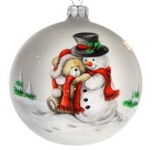 GIFTS PLAZA (D) Handpainted Landscape Ornament Christmas Tree Decoration (Santa and Puppy)