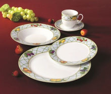 "Royalty Porcelain 20pc ""Citrus"" Fruity Dinnerware Set for 4, Fine Porcelain"