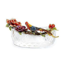 RORO Luxury Enameled 24K Gold Handmade Ashtray, Bohemian Crystal + Swarovski