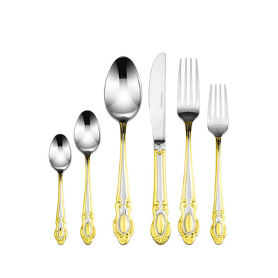 Italian Collection 75-Pс Premium Stainless Steel  Flatware Set, For 12, Monarch