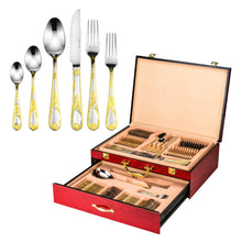 Italian Collection 'Florence' 75pc Premium Stainless Steel Silverware Flatware