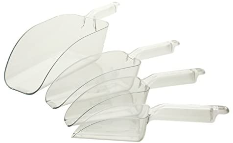 Plastic Measuring Scoops for Bakeware, Candy Scoop, Pet Food Utensil (4 PC, 6-ounce)
