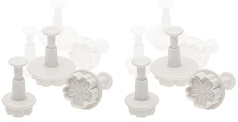 Ateco 1951 ABS Plunger 3 Sizes, Daisy Flower Cutter Set, Bakeware (12 Sets)