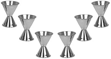 Measured Alcohol Jiggers, Barware (6 PC, 1 and 2 OZ)