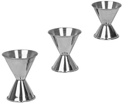 Alcohol Jiggers 1 and 2 oz, 3/4 and 1 1/2 oz, 1/2 and 1 Oz, Barware (3 PC)