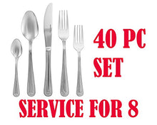 Italian Collection 40pc Premium Flatware Set, For 8, 24K Gold-Plated (Classic)
