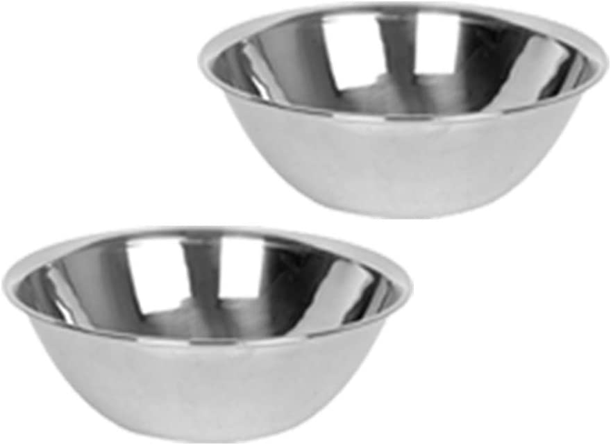Stainless Steel Mixing Bowl 5 Qt, Metal Bowl for Cooking, Bakeware (2 PC)