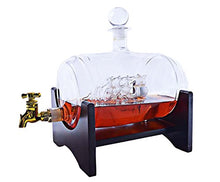 Large 50 Oz 'Barrel' Handmade Whisky Liquor Dispenser Decanter Mega Set