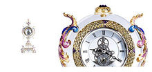 RORO Wedding Gift, Jeweled Bohemia Crystal Clock, Swarovski Decoration