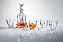 "Old-Fashioned ""Florale"" 7-Pc Whiskey Decanter Set, Lead Free"