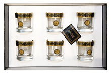 ArtDecor Greek Key Pattern, 11 Oz Old-Fashioned Whisky DOF Crystal Glasses