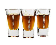Italian Collection Crystal Tequila Glasses Set, Swarovski Crystal, Lead Free