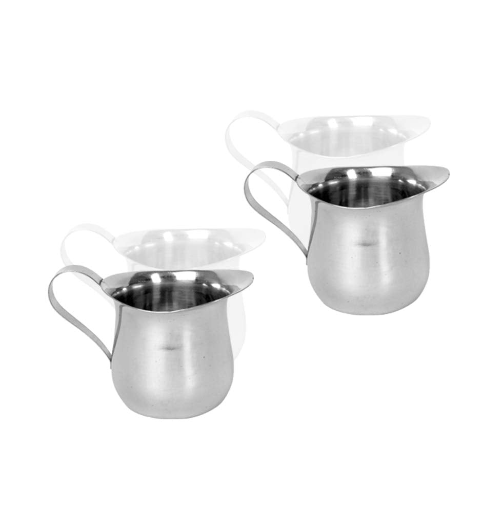 Stainless Steel Silver Bell Creamer Cream Pitcher for Milk, Barware (12 PC, 8 oz)