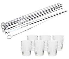 Shashlik Set 12-pc Graneniy Shot Vodka Glass with Steel Skewers (12-PC SET)