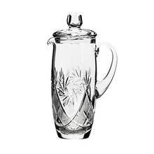 Neman, 33.8oz Hand Made Vintage Wine Carafe, Russian Crystal Beverage Pitcher