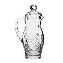 Neman Glassworks, 35-Oz Vintage Russian Crystal Pitcher/Carafe, Old-fashioned